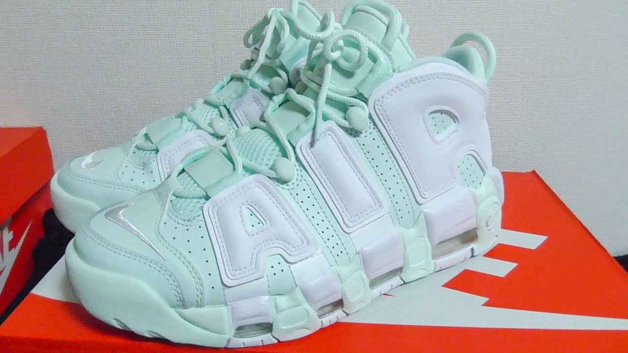 timeless design fff28 0a08c NIKE AIR MORE UPTEMPO BARELY GREEN WHITE