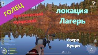 Русская рыбалка 4 озеро Куори Голец со скалистого берега