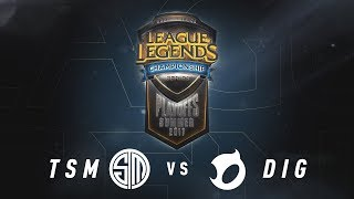 TSM vs. DIG - Day 2 Game 3 | NA LCS Summer Split Semifinals | TSM vs. Team Dignitas (2017)