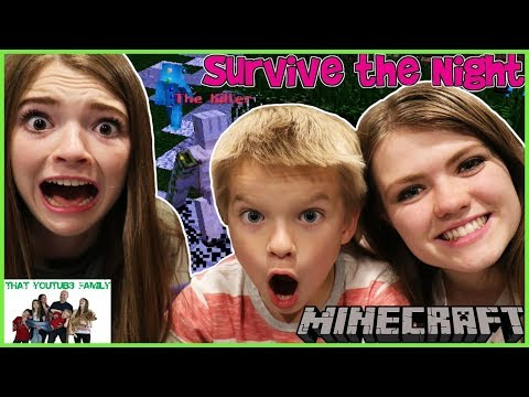 Family Minecraft SURVIVE THE NIGHT and HIDE AND SEEK  THE HIVE / That YouTub3 Family