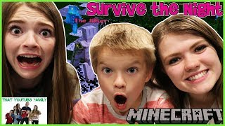Family Minecraft SURVIVE THE NIGHT and HIDE AND SEEK - THE HIVE / That YouTub3 Family