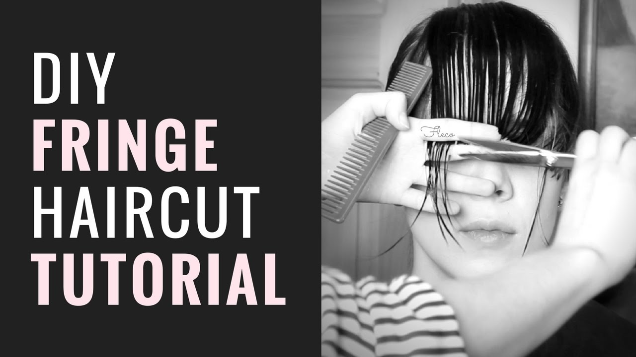 DIY FRINGE / BANGS HAIRCUT TUTORIAL - YouTube