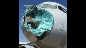 American Flight Makes Emergency Landing After Hail Storm Shatters Windshield | AVIATION NEWS