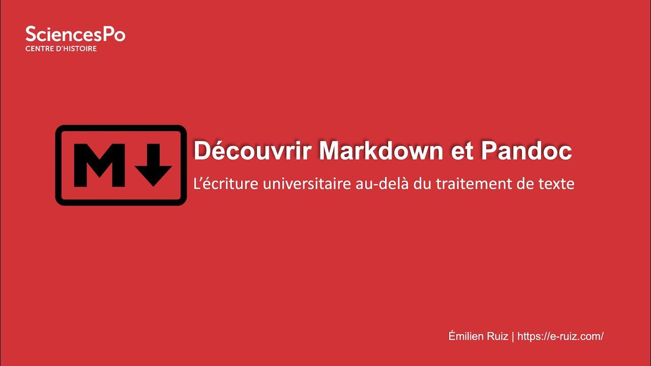 Youtube Video: Découvrir Markdown et Pandoc