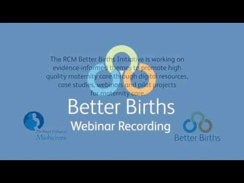 Better Births Webinar: Developing the Portsmouth App on 'My Birthplace'