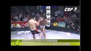Adrián Rojas deportista Rionegrero, ganó una de las peleas del CRF Show 10 Colombia
