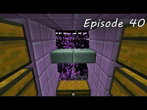 Minecraft เอาชีวิตรอด - Episode 40 - ฟาร์ม Enderman อัตโนมัติ Tutorials Automatic Enderman Farm 1.9