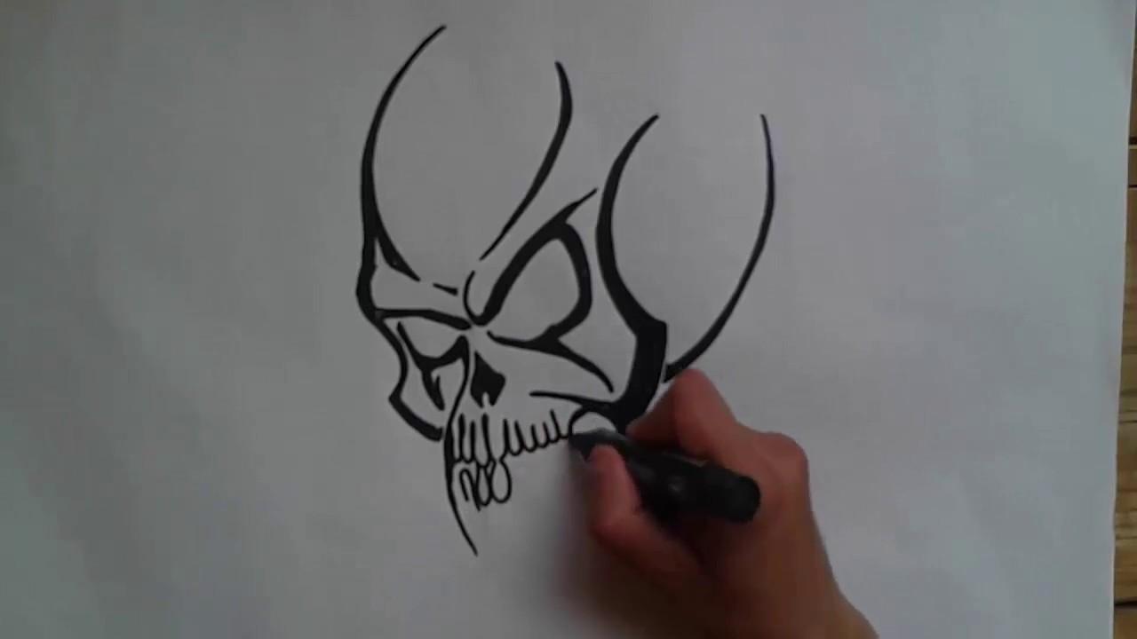 رسم جمجمة 3d بأقلام الرصاص Youtube