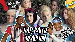 THEY BEEFING!!! SNOW WHITE vs ELSA: Princess Rap Battle {REACTION}