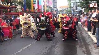 Roadshow Barongsai & Liong Keliling Kuta Menjelang Tahun Baru Imlek 2566