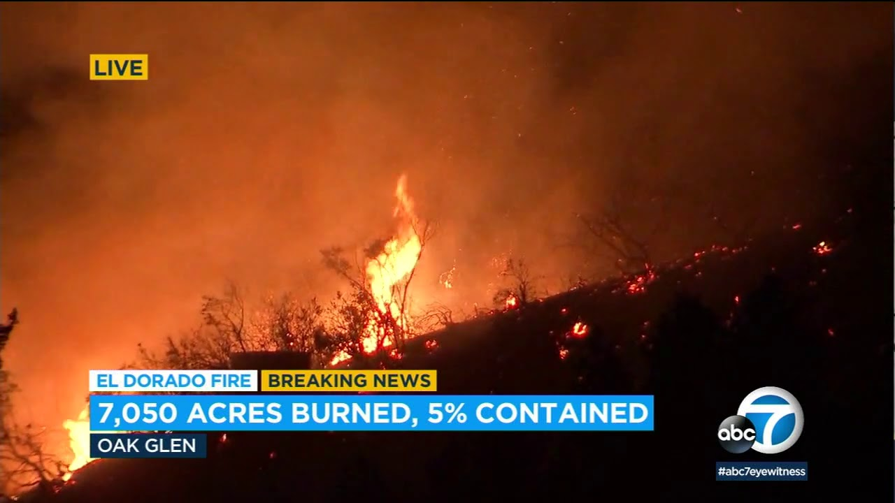 El Dorado Fire sparked by a gender reveal party has grown to nearly ...
