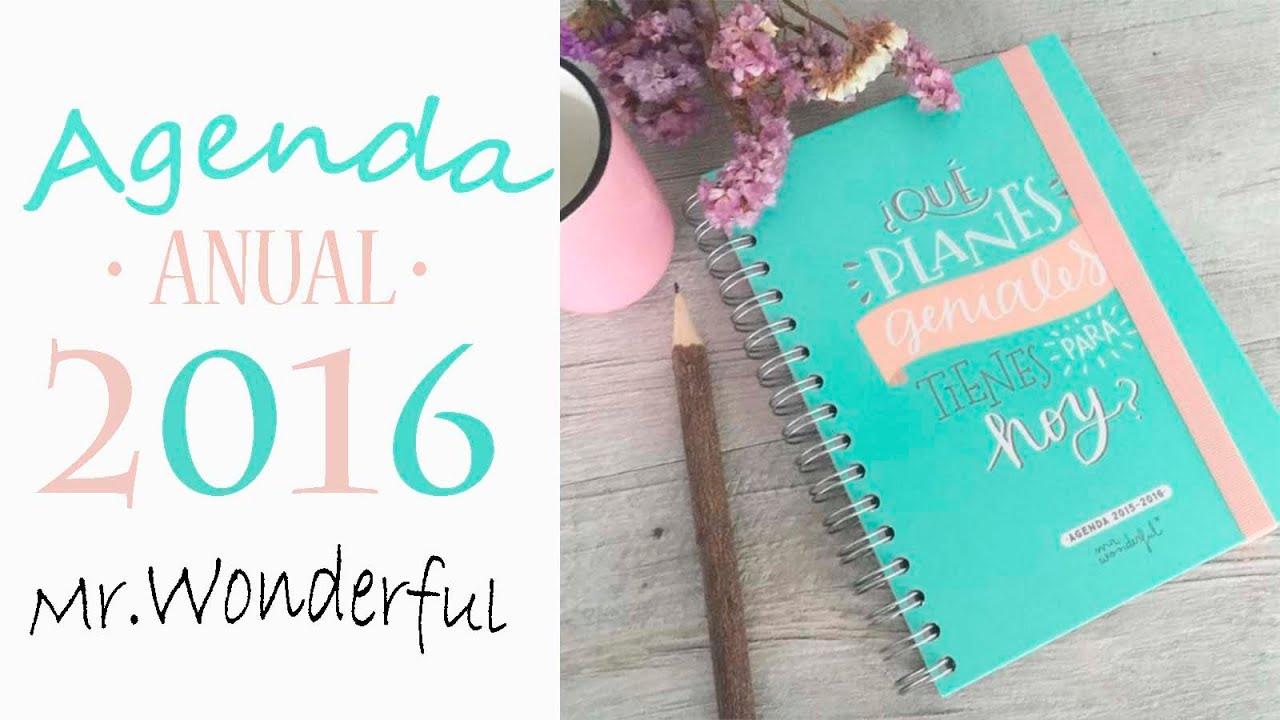 Review Agenda 2016 Anual Mr.Wonderful - YouTube