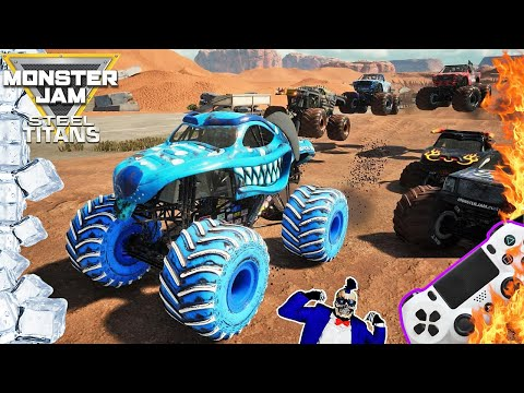 Monster Jam Steel Titans Video Game Fire and Ice Racing Championship #3 |