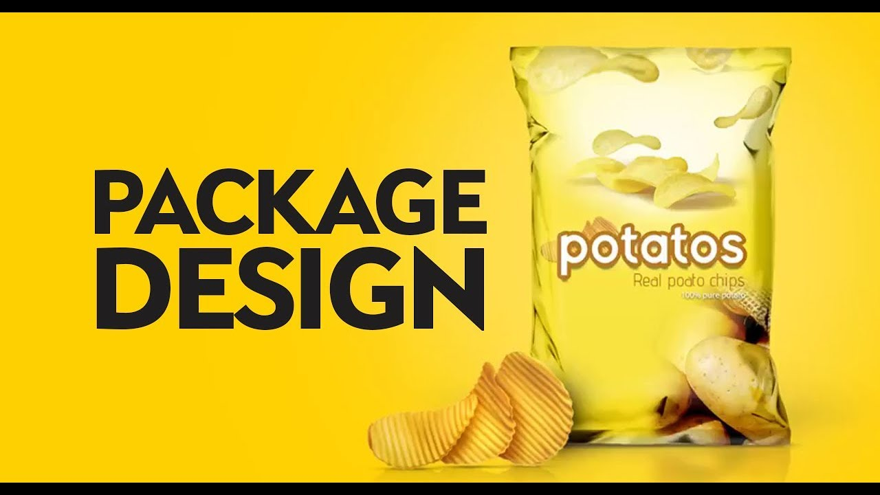 Product Package design chips in Photoshop cc tutorial