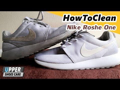 การทำความสะอาดรองเท้าผ้าใบสีขาว Nike Roshe One