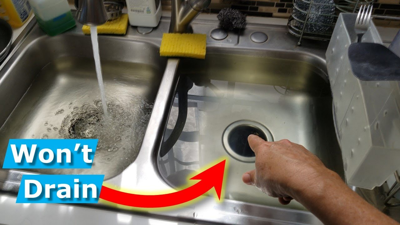 How To Snake Unclog Kitchen Sink Drain Stop Sewer Smell Youtube