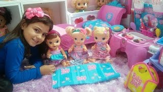 BABY  ALIVE  EM: Festa do  pijama. com as meninas... Julia. Vitória e Cristal..