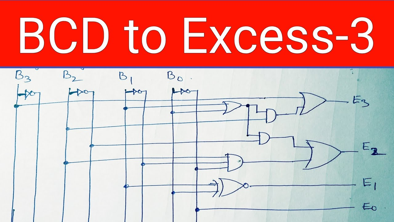 BCD to Excess 3 Converter Design - YouTube | Bcd To Excess 3 Logic Diagram |  | YouTube