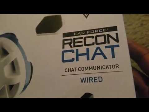TURTLE BEACH EAR FORCE RECON CHAT HEADSET UNBOXING 10/25/2019