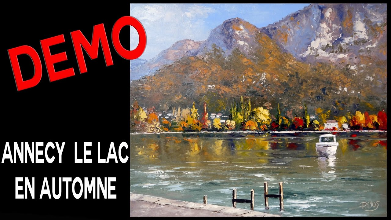 lac d annecy en automne d mo peinture pascal clus youtube. Black Bedroom Furniture Sets. Home Design Ideas