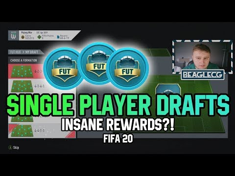 FIFA 20 - Single Player Draft Rewards?! Is It Worth It?! *EXPERIMENT*