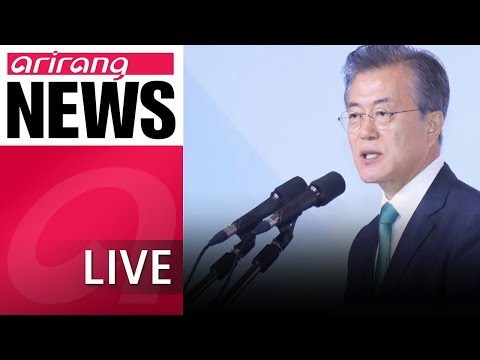[LIVE/NEWSCENTER] President Moon outlines South, North Korea economic community, economic map...