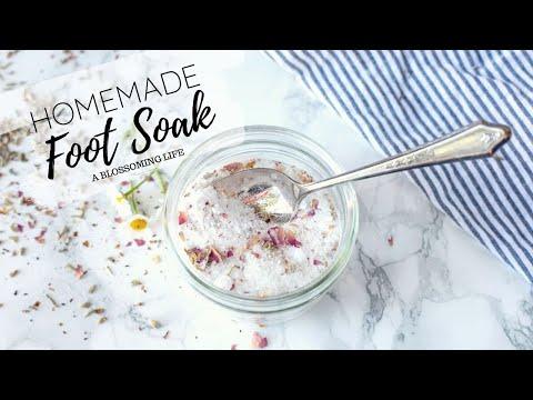 Homemade Foot Soak - Invigorating Soothing Recipe - YouTube