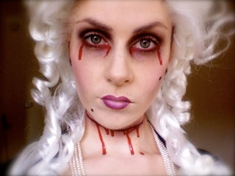 Marie Antoinettes ghost Halloween Makeup;.. \'Let them eat cake ...