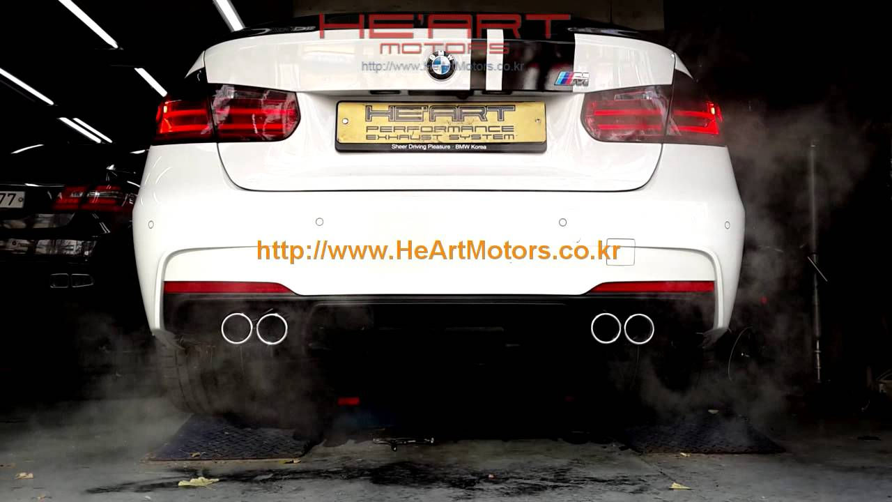 F30 328i He Art Dual Exhaust System Youtube