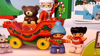 Лего Дупло 10837 Новый год Распаковка/LEGO DUPLO 10837 Santa's Winter Holiday Unboxing