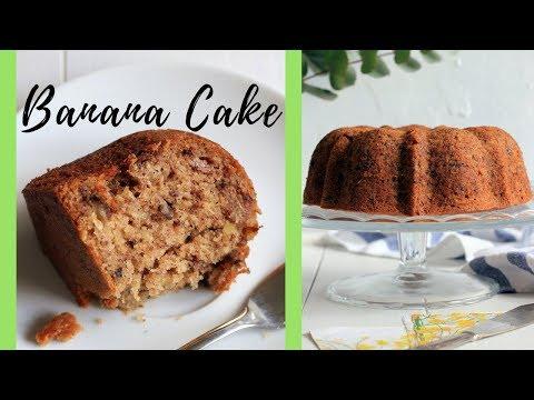 SUPER MOIST BANANA BUNDT CAKE WITH WALNUTS | BEST WAY TO USE RIPE BANANAS | INTHEKITCHENWITHELISA