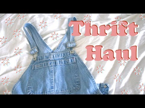 Berlin Thrift Haul 👖🌼 - Dungarees & 80's shirts