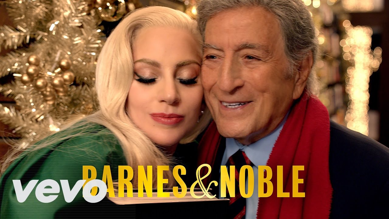 Lady Gaga Tony Bennett Christmas Campaign Barnes Noble ᴴᴰ  - Lady Gaga Christmas Tree Youtube