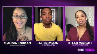 Kiyah Wright & AJ Crimson Talk Quarantine on Fox Souls Out Loud W/Claudia Jordan!