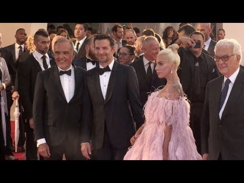 Bradley Cooper and Lady Gaga on the red carpet for the Premiere of A Star is Born at the Venice Film