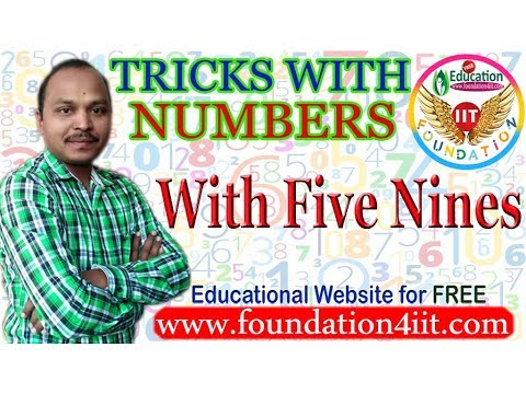Tricks With Numbers || With Five Nines || Maths Puzzle # 10 ||