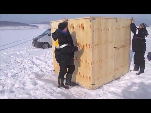 мобильный домик для зимней рыбалки своими руками