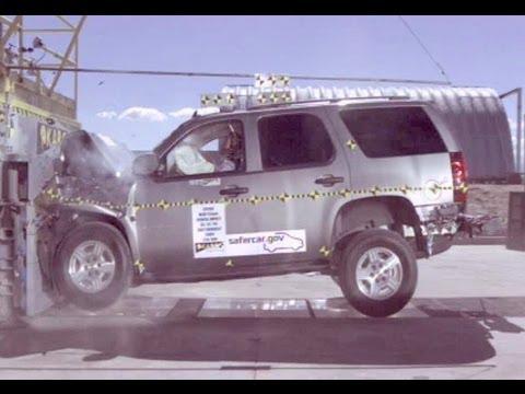 2007 Chevy Tahoe | Frontal Crash Test by NHTSA | CrashNet1 ...