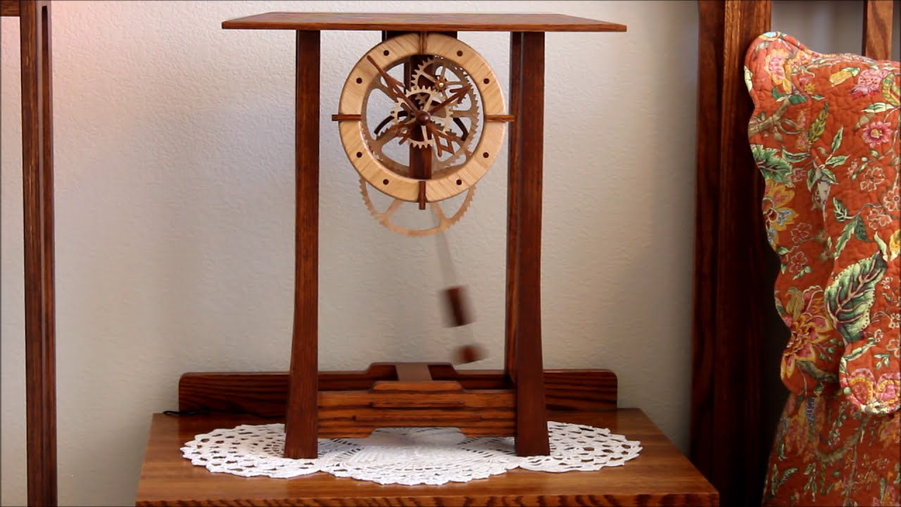 Arts And Crafts Clock By Clayton Boyer Youtube
