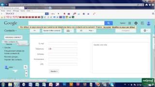 3j - Créer des contacts, groupes de contacts sur Gmail