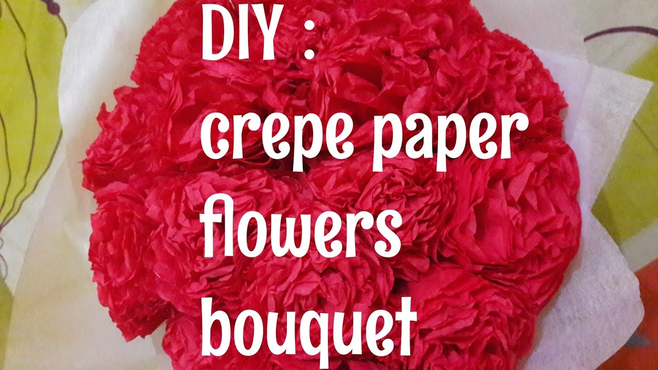 Diy How To Make Easy Crepe Paper Flower Bouquet Handmade Indonesia