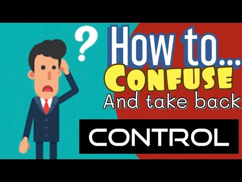 Taking Control!....Confuse the Narcissist!