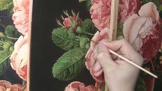 Рисуем листья розы. Полное видео. Часть 1. How to paint a rose leaves.