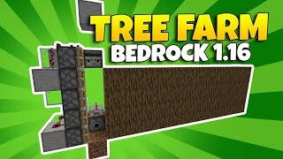 BEST Tree Farm Minecraft Bedrock | Tree Farm Minecraft PE 1.16 (MOST EFFICIENT) MCPE Tree Farm