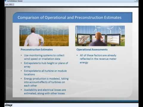 Operational Wind and Solar Project Assessments Webinar