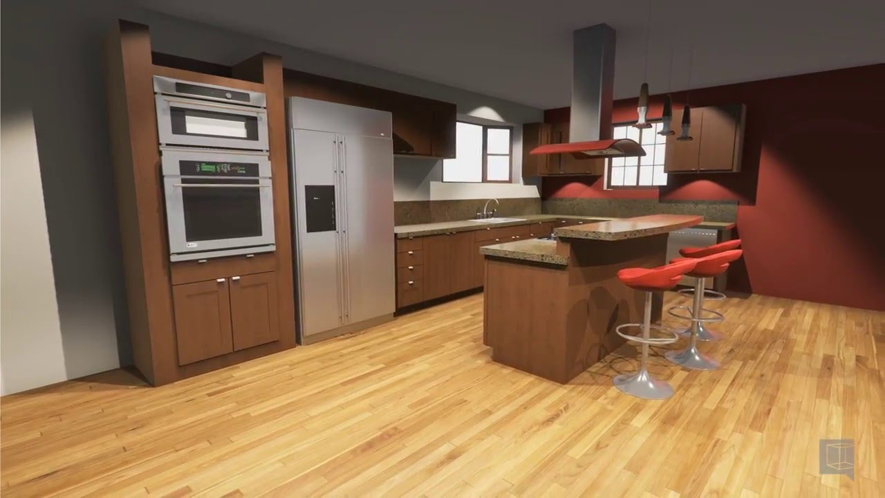 Sketchup Kitchen Design Beauteous Vortek Spaces  Kitchen Design Walkthrough Sketchup  Youtube Design Inspiration
