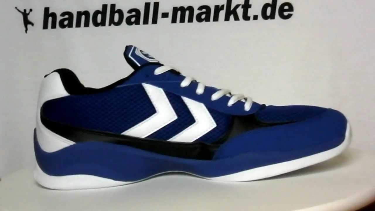 hummel authentic handballschuhe blau weiss youtube. Black Bedroom Furniture Sets. Home Design Ideas