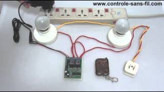 Interrupteur Sans Fil - Kit Émetteur Récepteur Radio 9V 12V 2 Canaux - Mode de Contrôle Triggering-