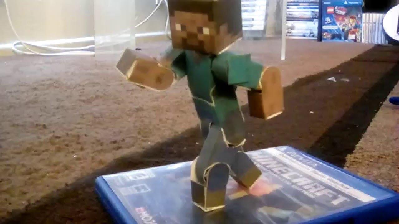 Minecraft papercraft steve articulado
