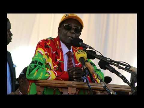 President Mugabe addresses Zanu PF supporters at Mucheke Stadium in Masvingo